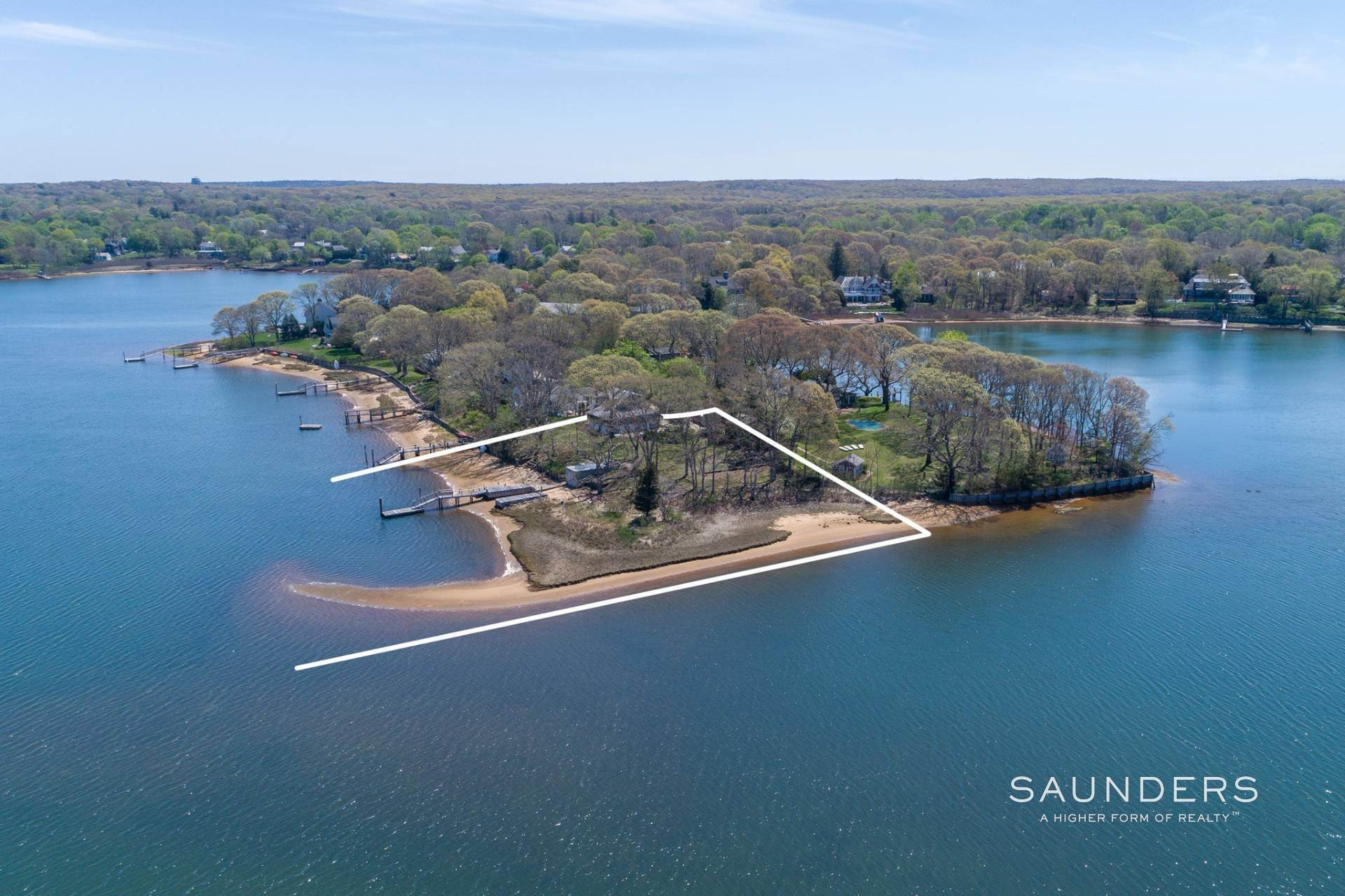 Single Family Homes for Sale at Sag Harbor Village Waterfront 1 Bluff Point Lane, Sag Harbor, Southampton Town, NY 11963