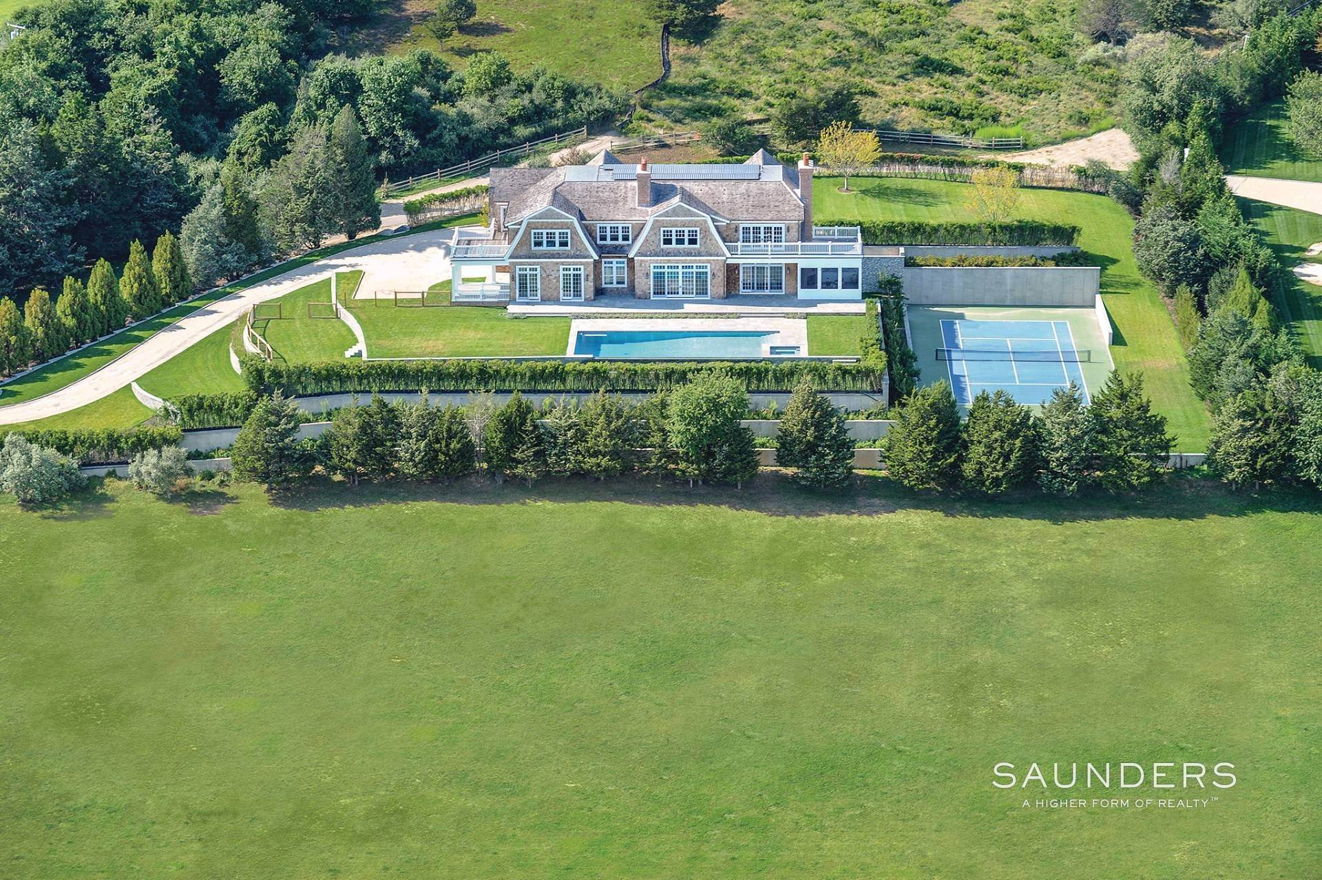 Single Family Homes for Sale at Exceptional New Bridgehampton Estate With Ocean Views Bridgehampton, Southampton Town, NY 11963