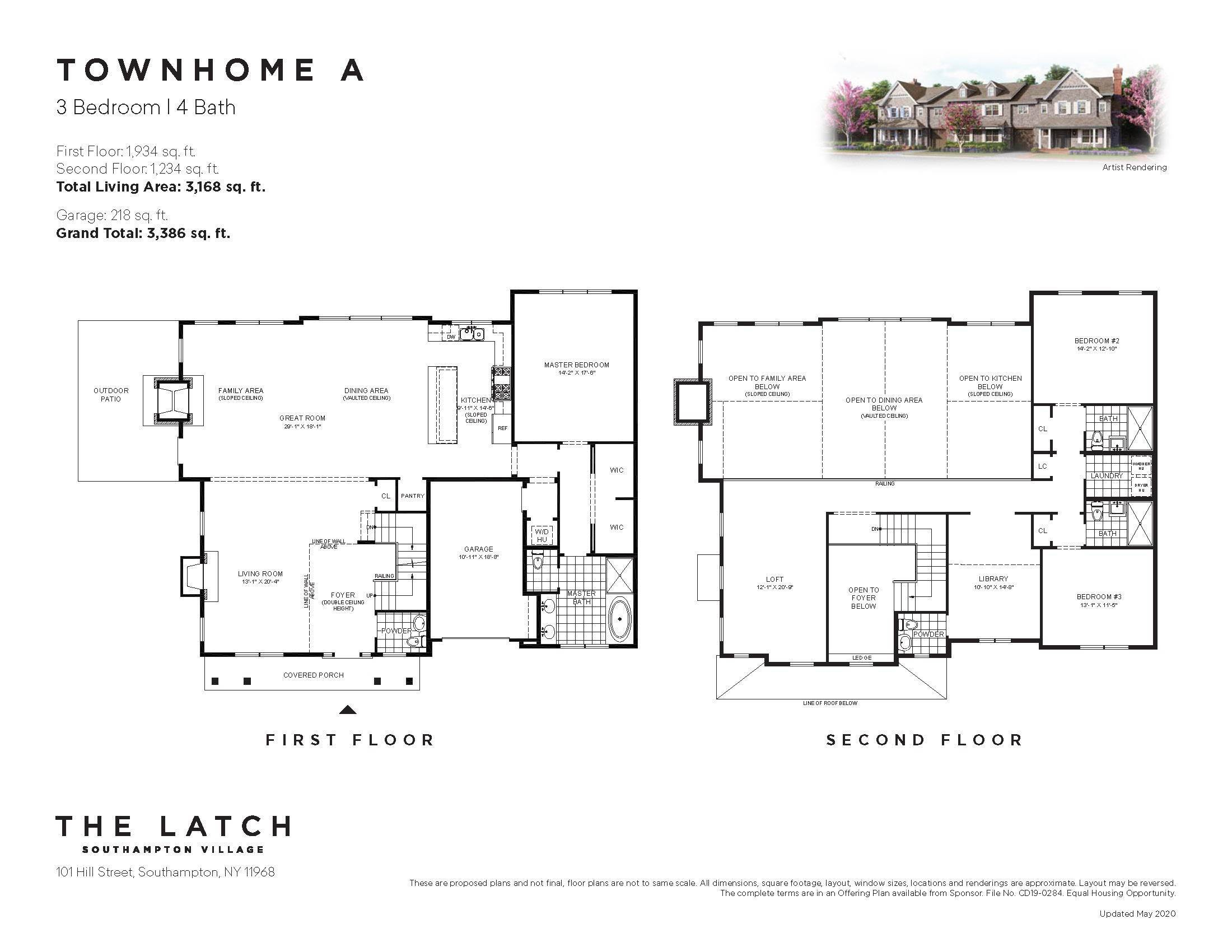 townhouses for Sale at The Latch At Southampton Village 101 Hill Street, #14a, Southampton, Southampton Town, NY 11968