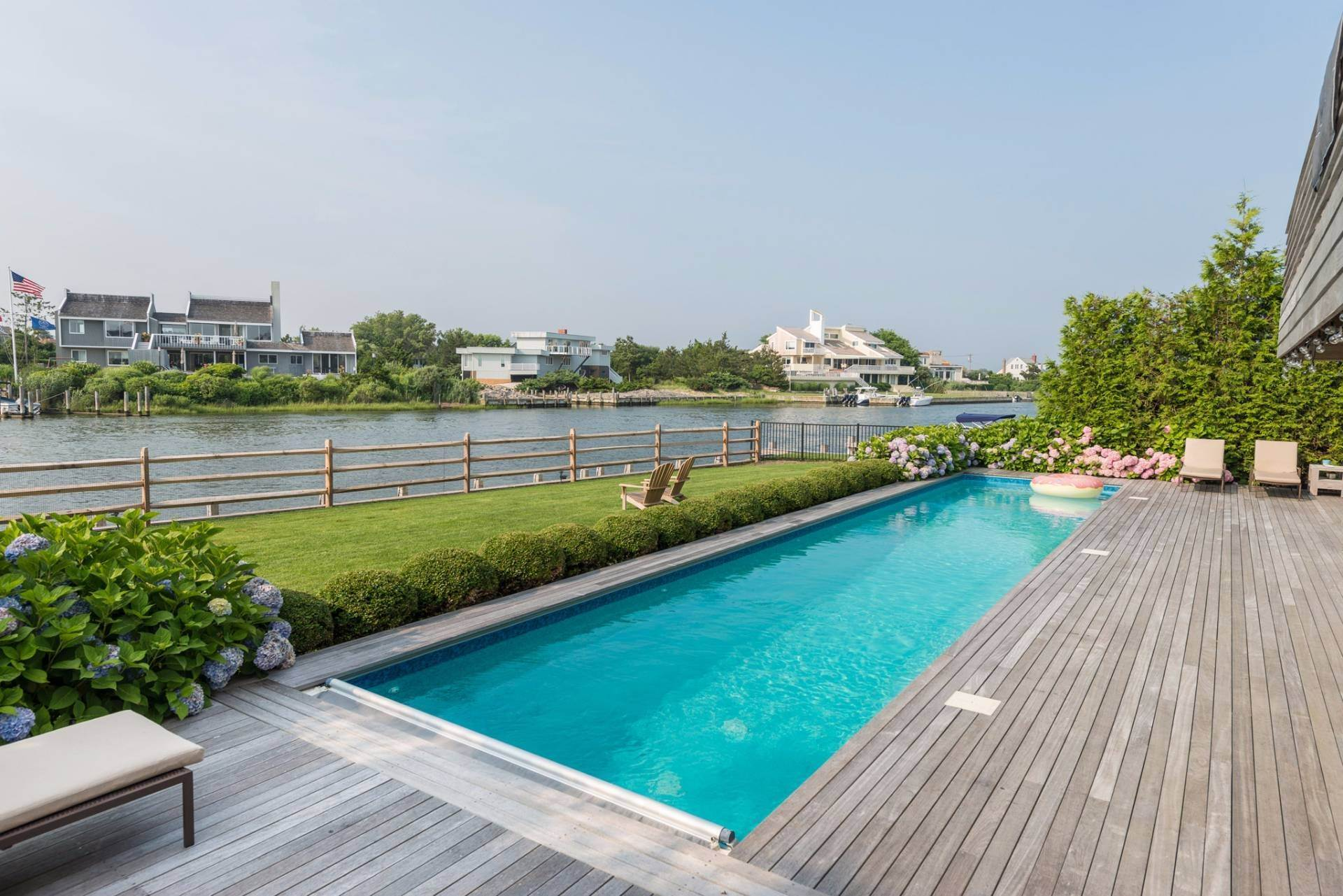 Single Family Homes at Quogue Bayfront With Lap Pool, Dock & Deeded Ocean Access Other Areas, NY 11959