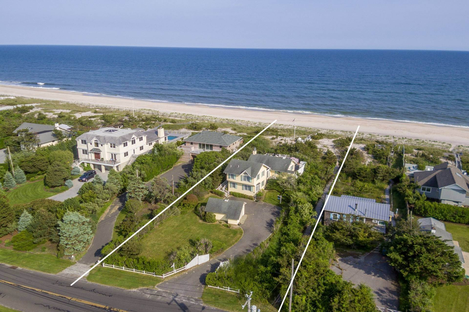 Single Family Homes for Sale at The Best Value On The Ocean In Quogue 96 And 98 Dune Road, Quogue Village, Southampton Town, NY 11978