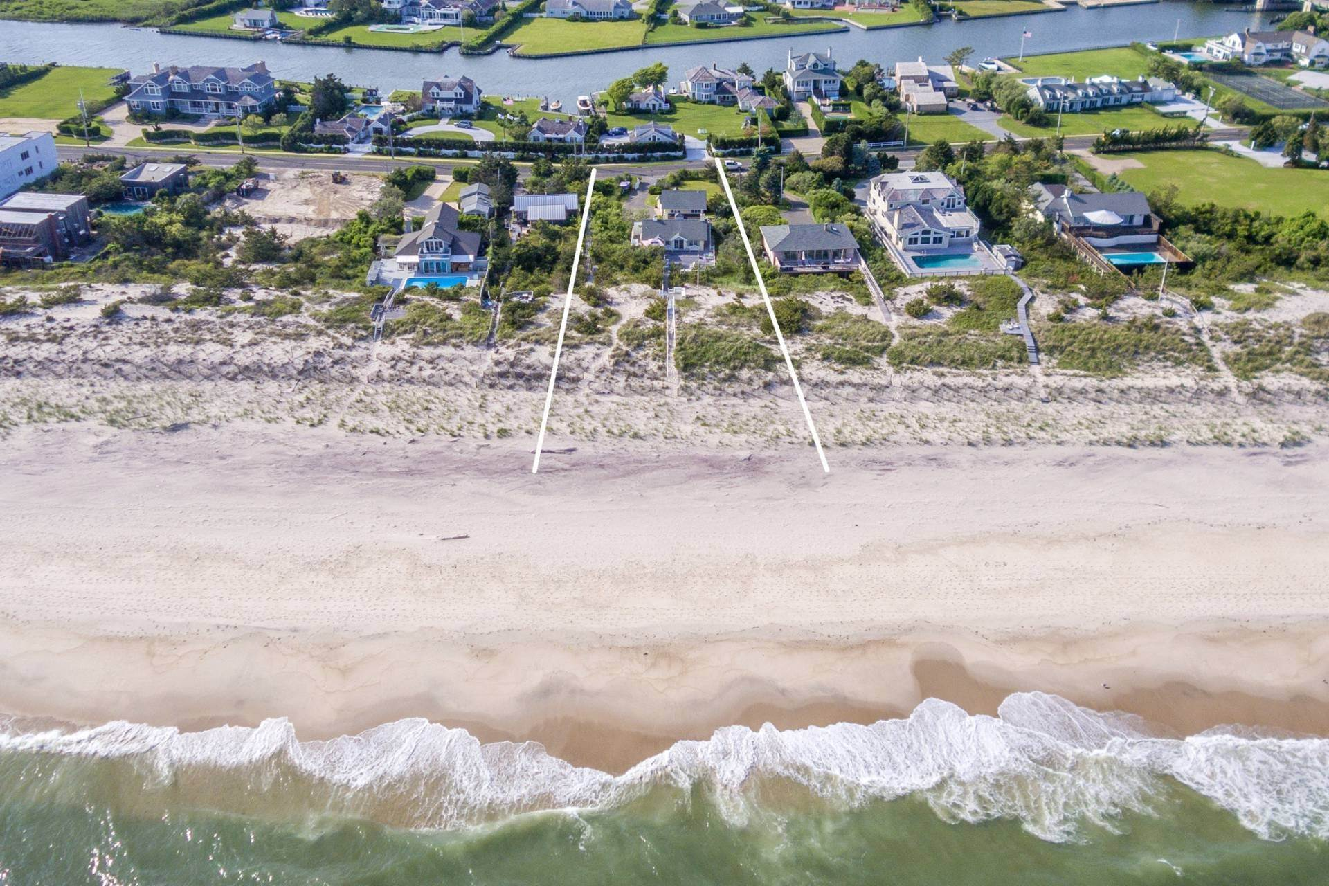 2. Single Family Homes for Sale at The Best Value On The Ocean In Quogue 96 And 98 Dune Road, Quogue Village, Southampton Town, NY 11978