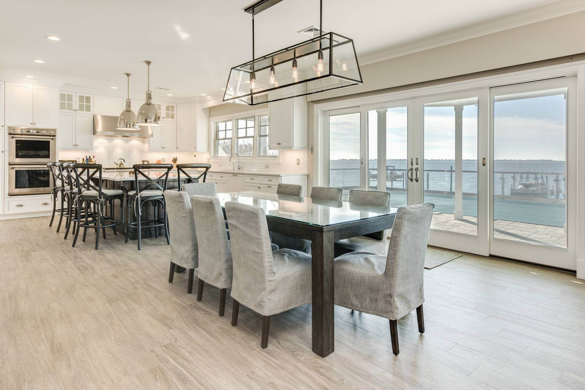 8. Single Family Homes at What A View! Gorgeous Summer Retreat--Sunsets, Pool & Boat Lift 9 Seatuck Lane, Remsenburg, Southampton Town, NY 11960