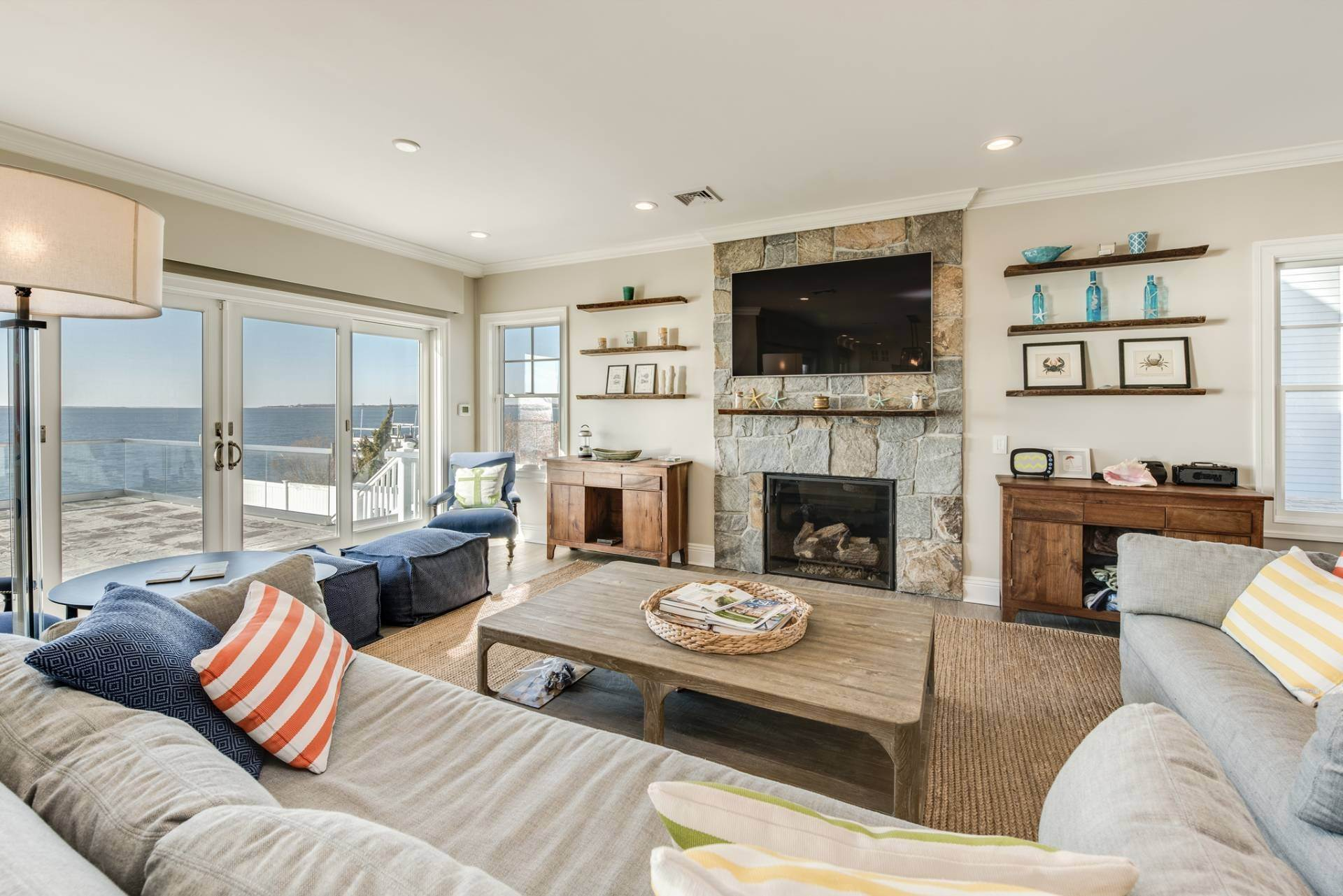 6. Single Family Homes at What A View! Gorgeous Summer Retreat--Sunsets, Pool & Boat Lift 9 Seatuck Lane, Remsenburg, Southampton Town, NY 11960