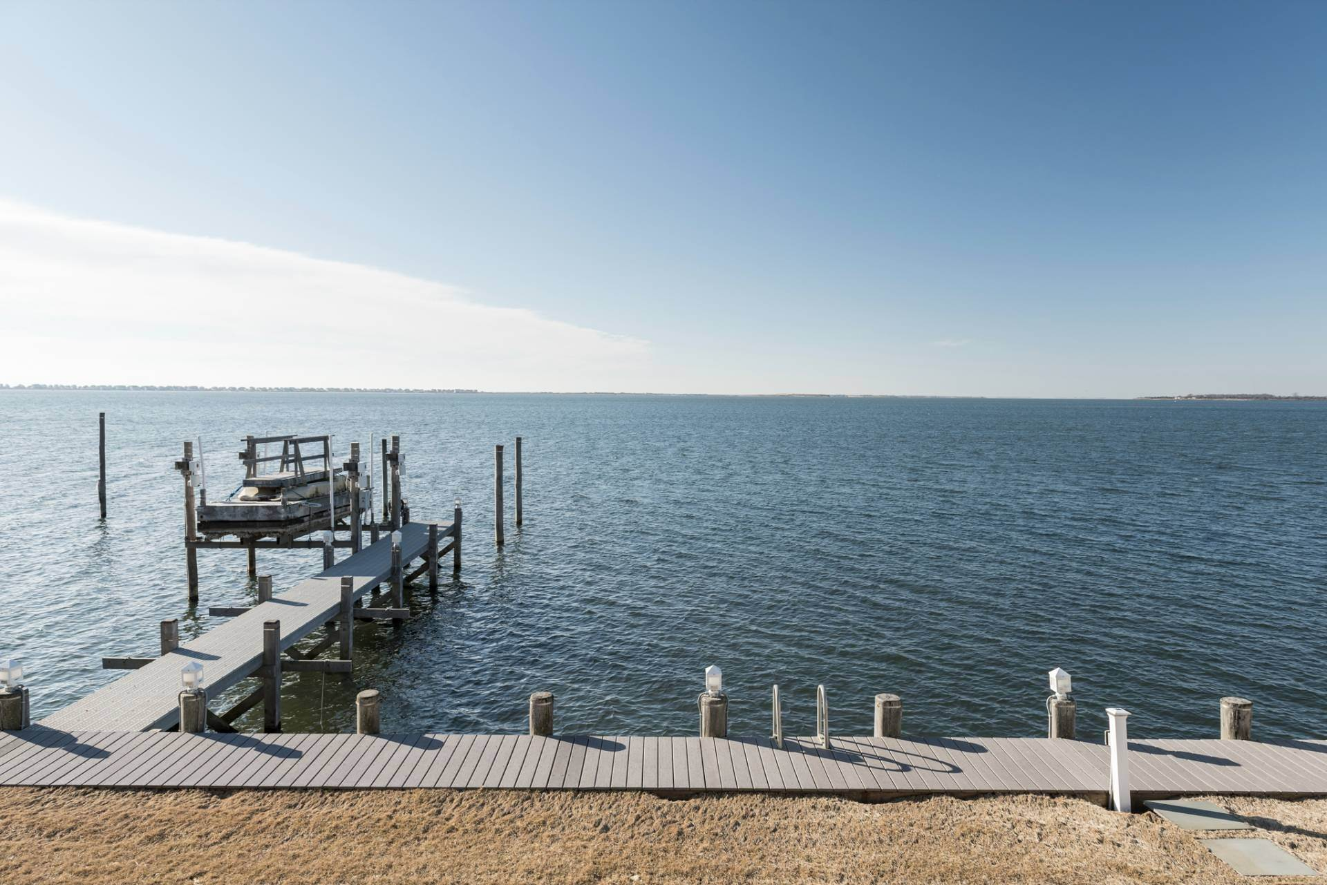 3. Single Family Homes at What A View! Gorgeous Summer Retreat--Sunsets, Pool & Boat Lift 9 Seatuck Lane, Remsenburg, Southampton Town, NY 11960