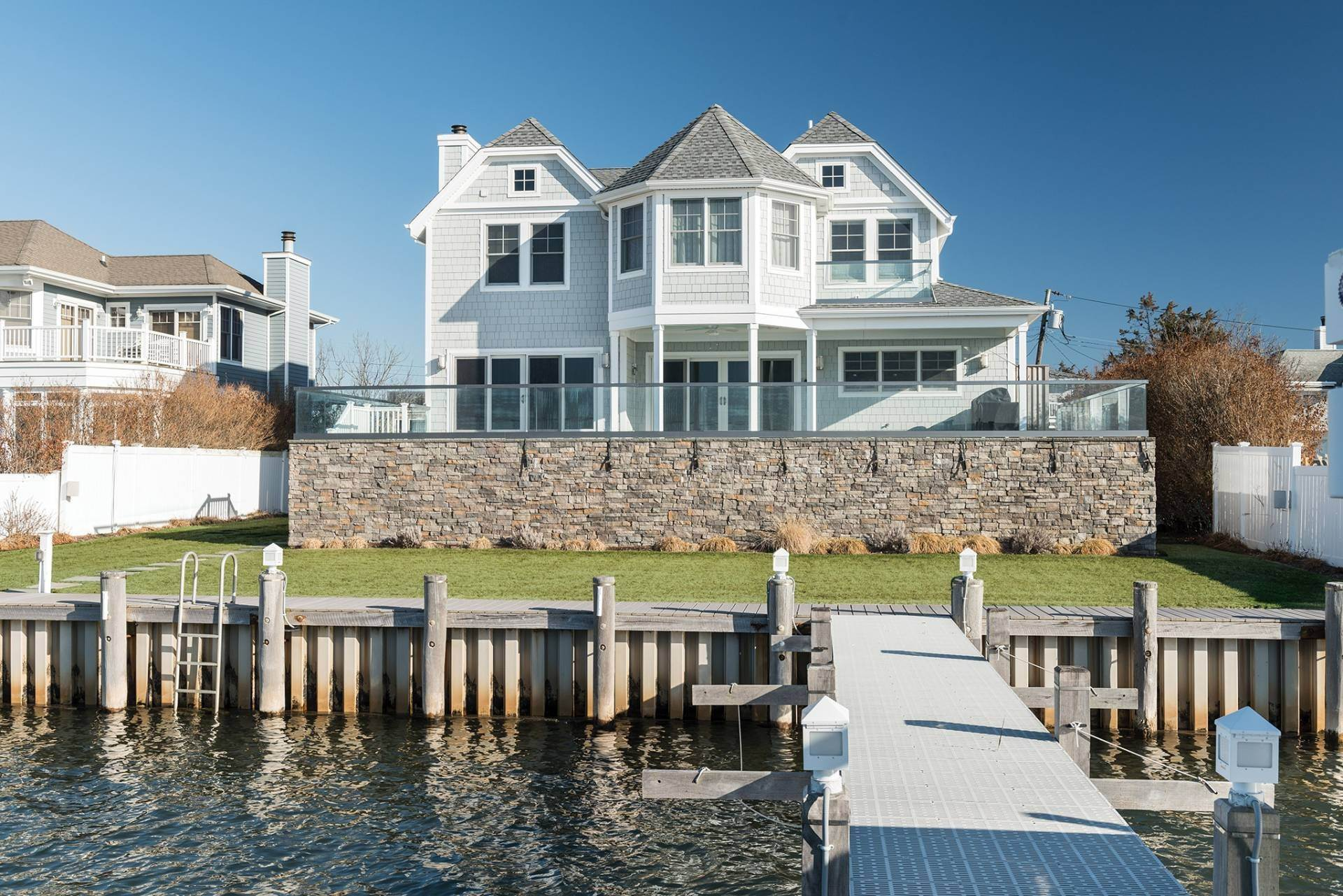 Single Family Homes at What A View! Gorgeous Summer Retreat--Sunsets, Pool & Boat Lift 9 Seatuck Lane, Remsenburg, Southampton Town, NY 11960