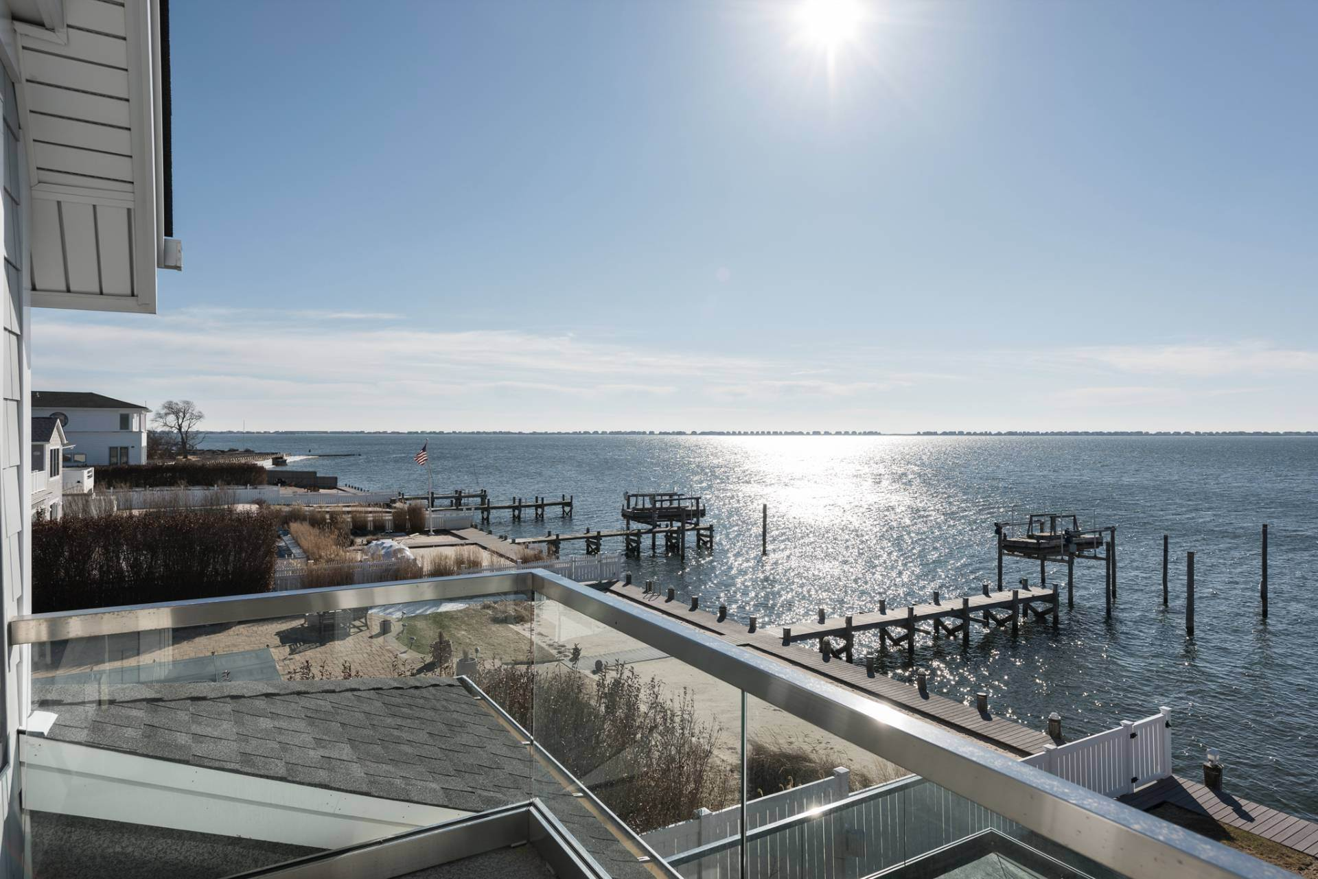 14. Single Family Homes at What A View! Gorgeous Summer Retreat--Sunsets, Pool & Boat Lift 9 Seatuck Lane, Remsenburg, Southampton Town, NY 11960